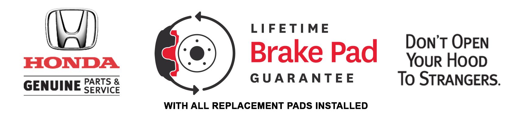 Lifetime brake pad gurantee