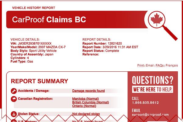 CarProof Claims