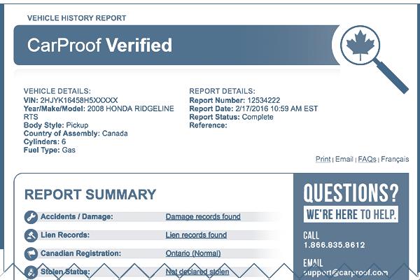 CarProof Verified
